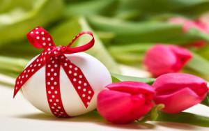 segnaposto pasqua uovo e fiori 2
