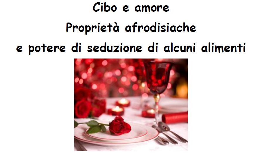 Immagine cibo e amore