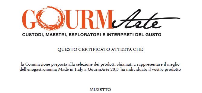 Immagine Atestato Courmearte 2017