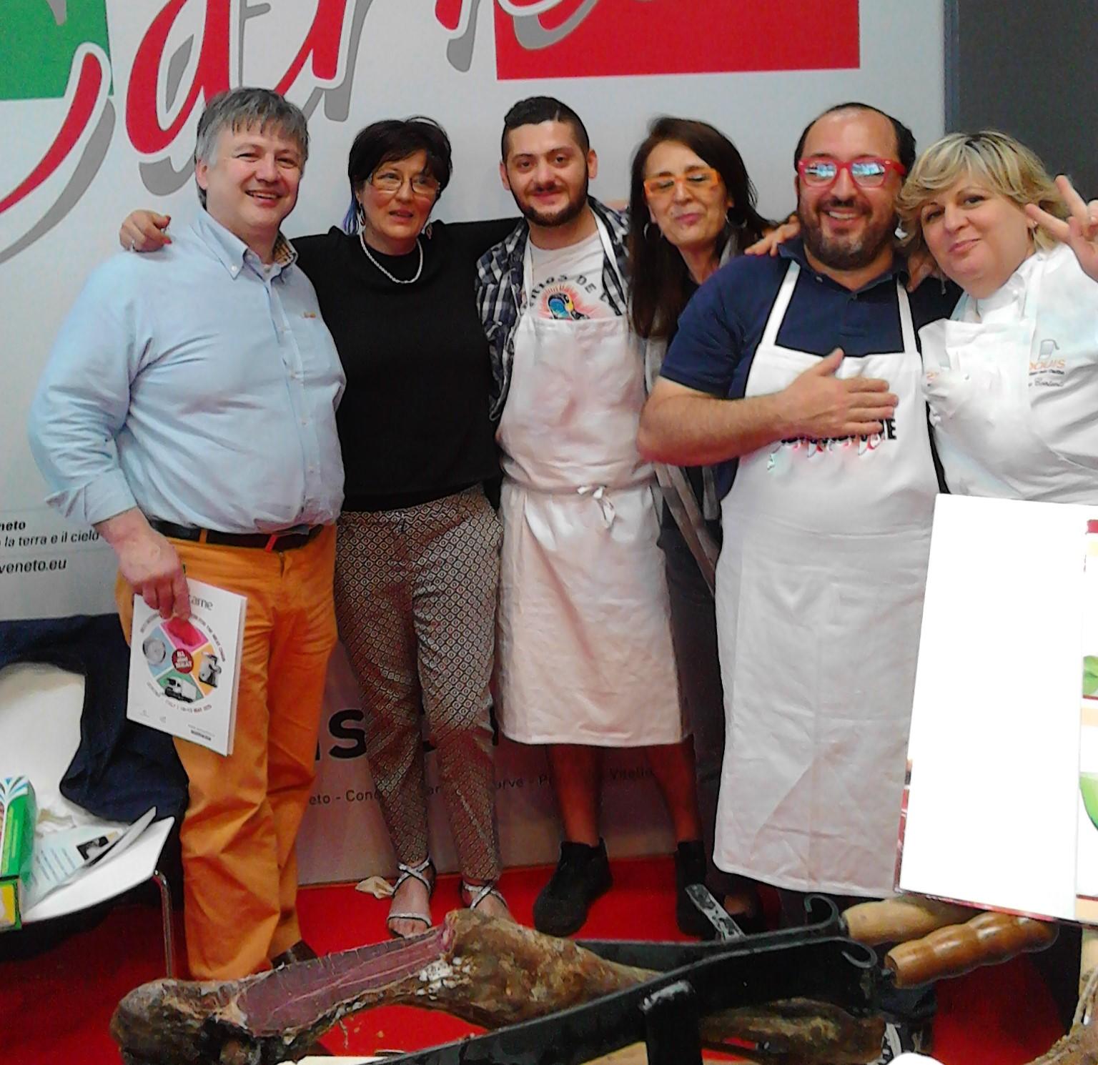 fiera Verona 2015 con cuochi di Master Chef