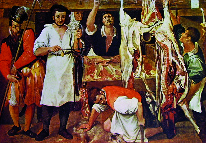 2 Carracci - la bottega del macellaio